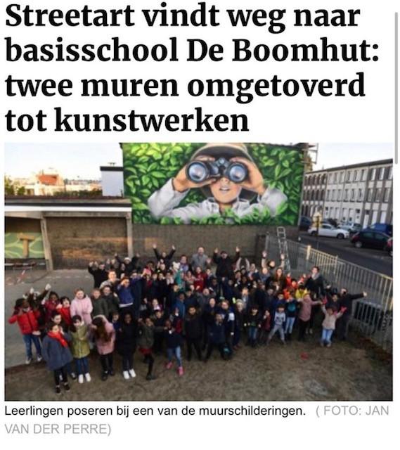 Streetart bij Basisschool De Boomhut